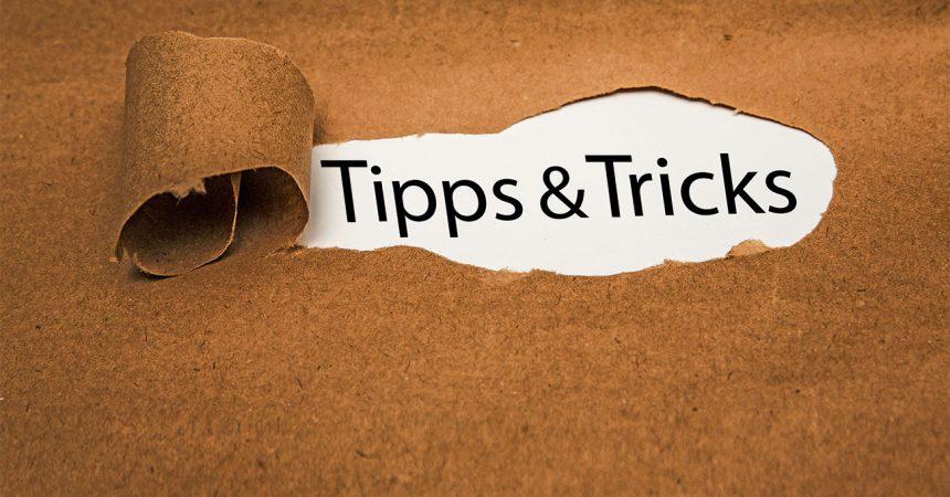 Tipps und Tricks auf aufgerissenem Papier