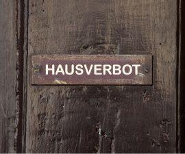 hausverbots schild