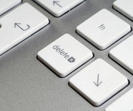 Entfernen Taste auf Tastatur